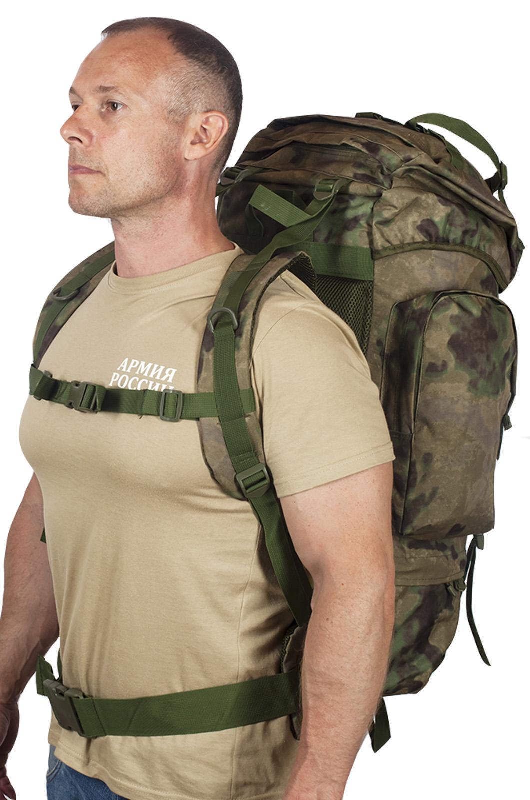 Походный эргономичный ранец-рюкзак с нашивкой Полиция России - купить в подарок