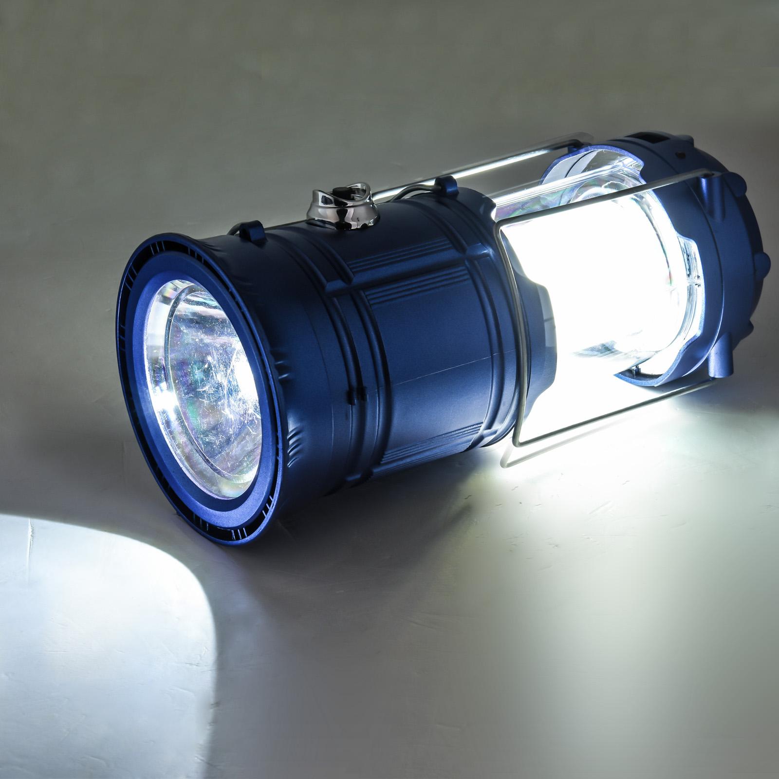 Походный фонарь с солнечной батареей 6 SMD LED