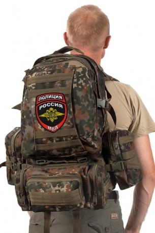 Походный надежный рюкзак с нашивкой Полиция России