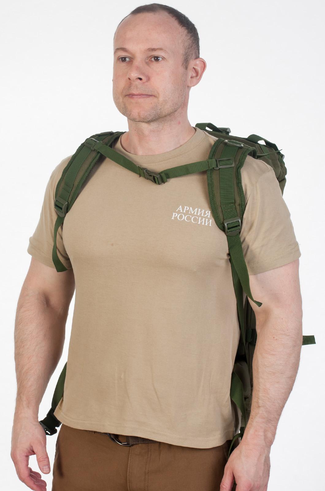 Походный рюкзак охотника с нашивкой НИ ПУХА, НИ ПЕРА! - заказать по низкой цене