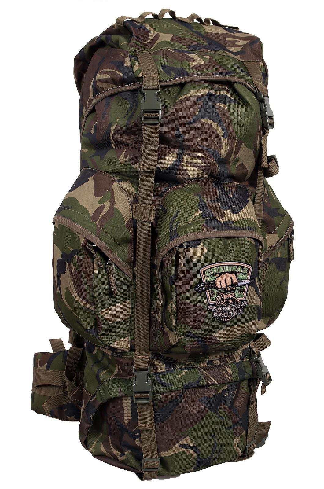 Походный трендовый рюкзак с нашивкой Охотничий Спецназ - заказать с доставкой