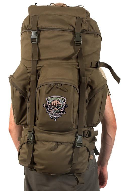 Походный внушительный рюкзак с нашивкой Рыболовный Спецназ