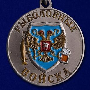 """Похвальная медаль """"Тунец"""" в подарок рыбаку в наградном футляре из флока с прозрачной крышкой в подарок"""