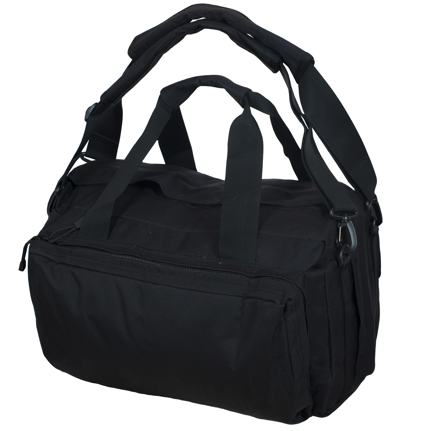 Полевая черная сумка с шевроном Рыболовного спецназа купить в розницу