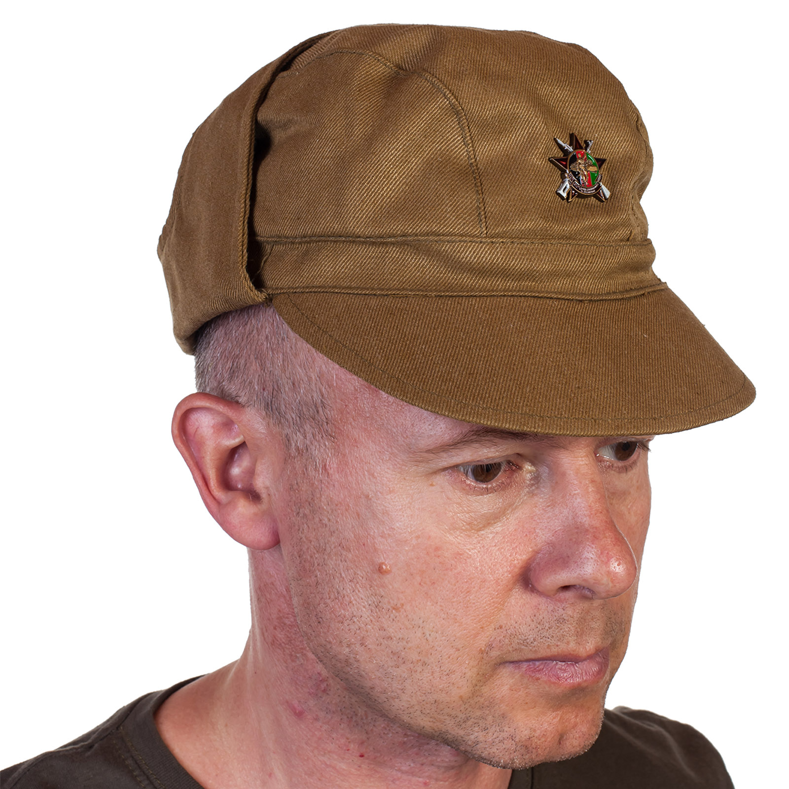 """Полевая кепка Афганка со значком """"30 лет вывода войск из Афганистана"""" с доставкой"""