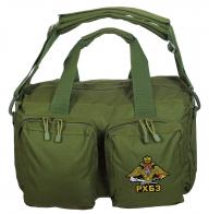 Полевая сумка-рюкзак в цвете хаки с эмблемой РХБЗ