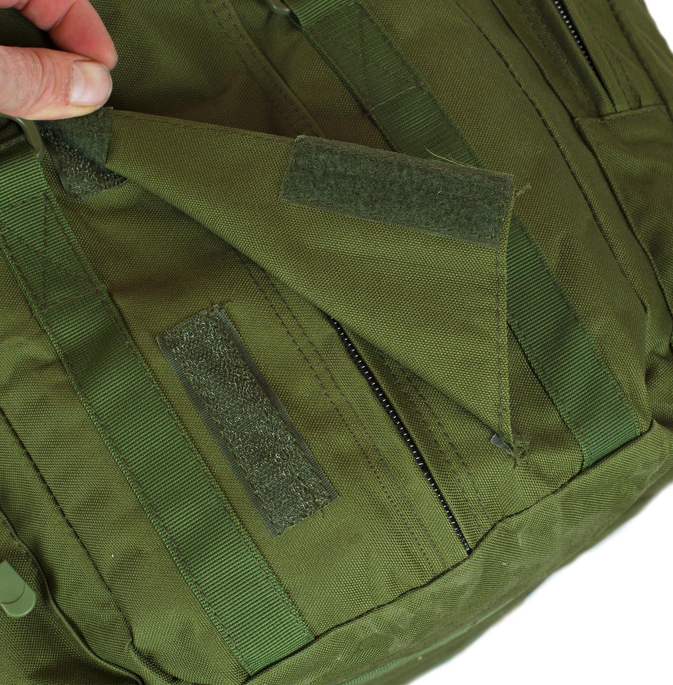 Полевая сумка-рюкзак в цвете хаки с эмблемой РХБЗ купить с доставкой
