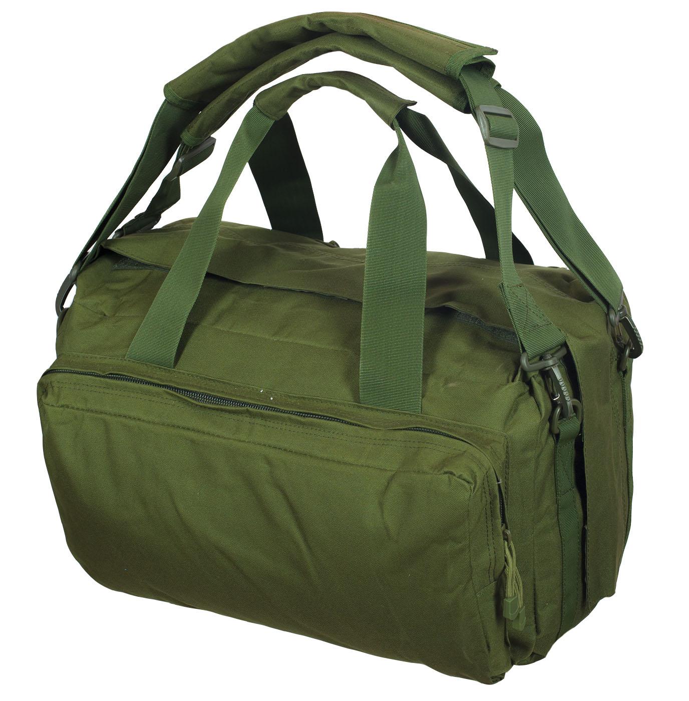Полевая сумка-рюкзак в цвете хаки с эмблемой РХБЗ купить онлайн