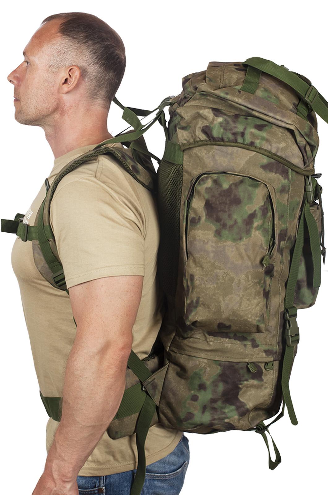 Полевой тактический рюкзак A-TACS FG Camo на 60 литров с эмблемой МВД