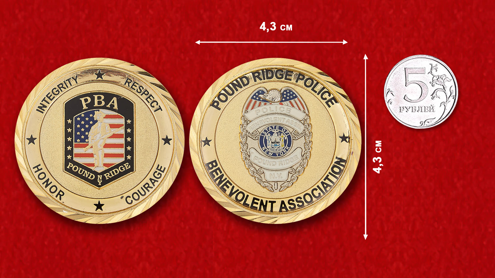 Police Benevolent Association Pound Ridge - comparative size