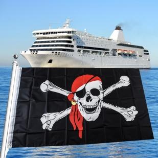 Полиэфирный пиратский флаг
