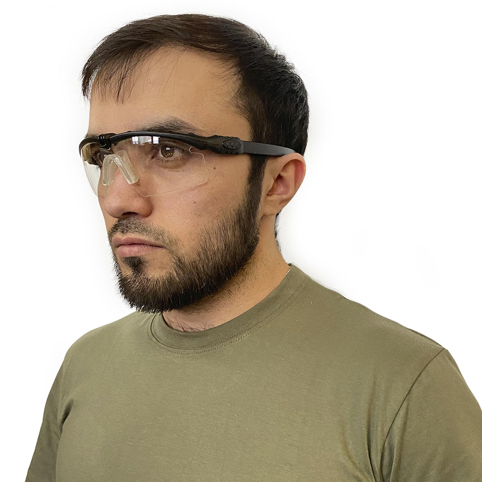 Поликарбонатные очки для стрельбы прозрачные