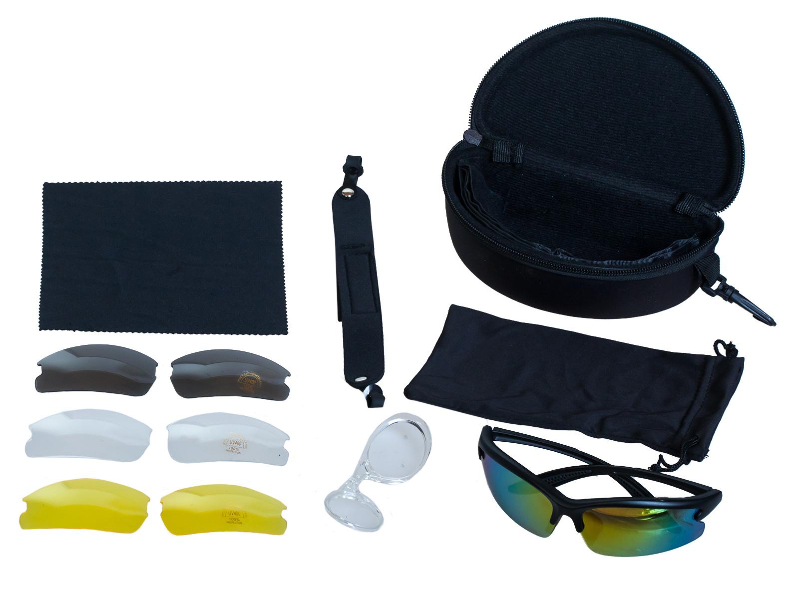 Поликарбонатные очки UV400 со сменными линзами