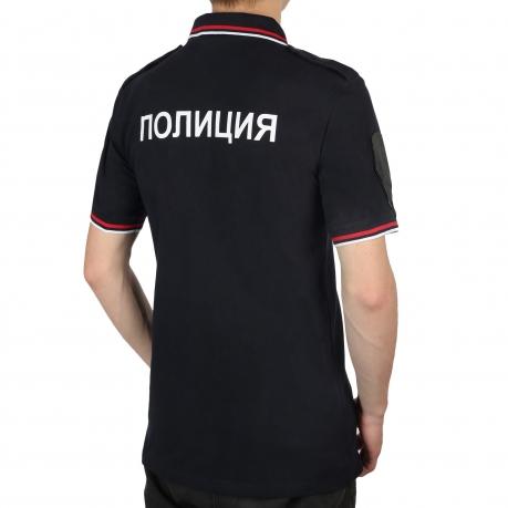 Полицейская футболка поло с надписью Полиция на спине