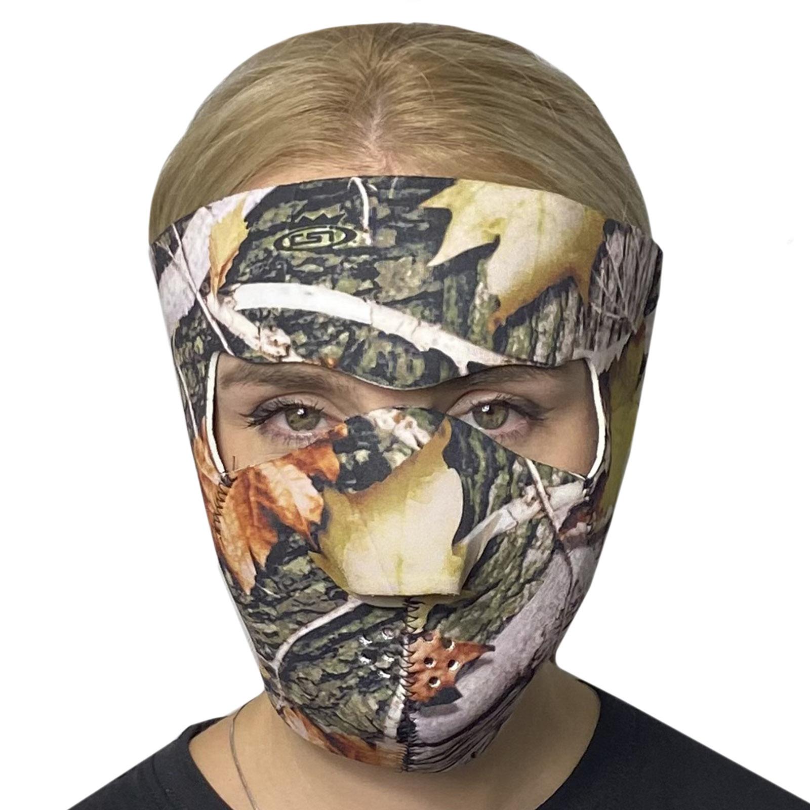Полнолицевая медицинская маска Skulskinz Realtree Camo