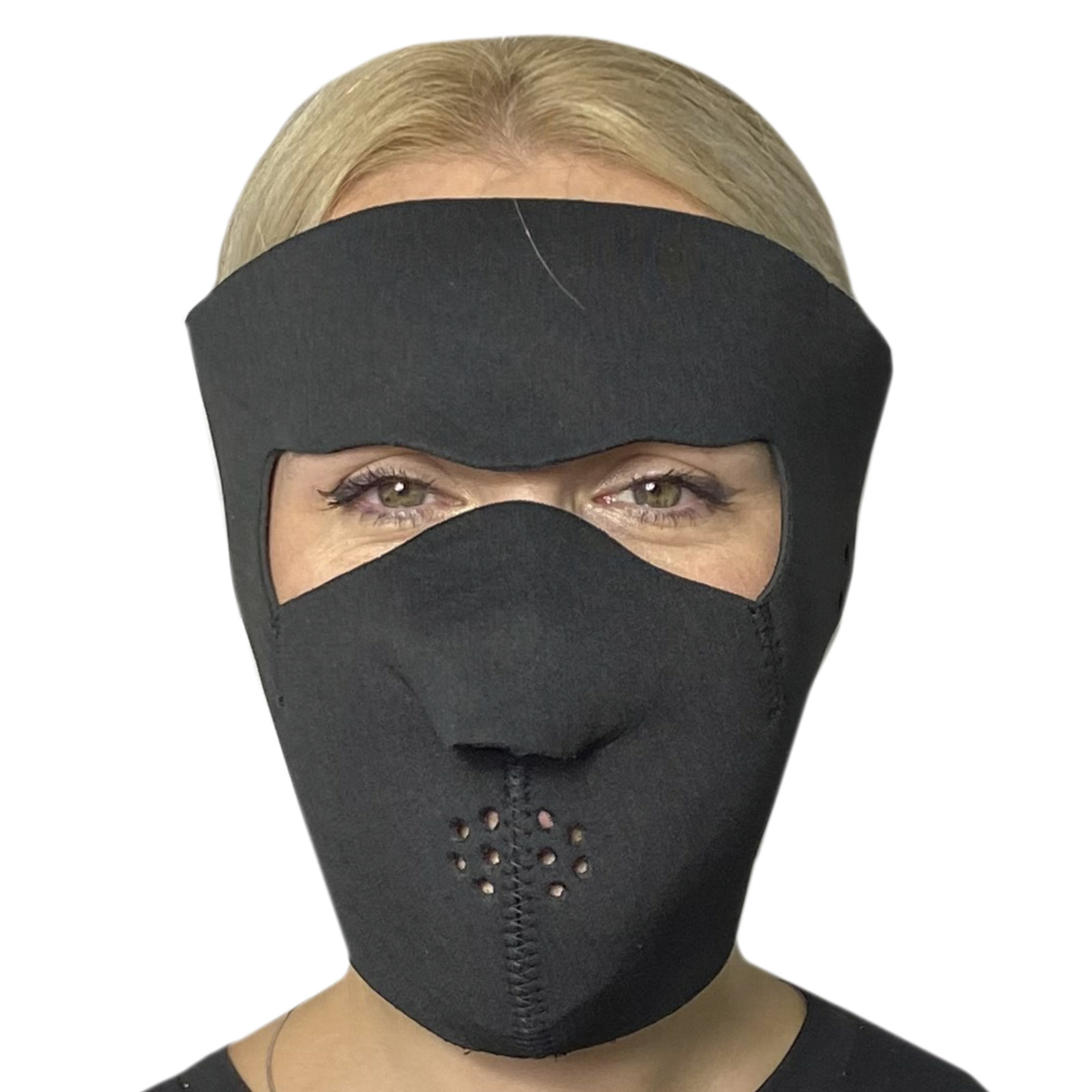 Полнолицевая медицинская неопреновая маска Skulskinz Black