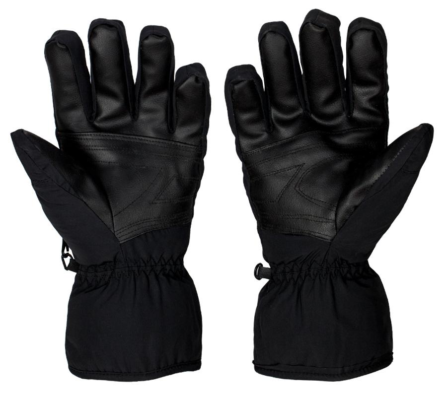 Полнопалые тактические перчатки черного цвета