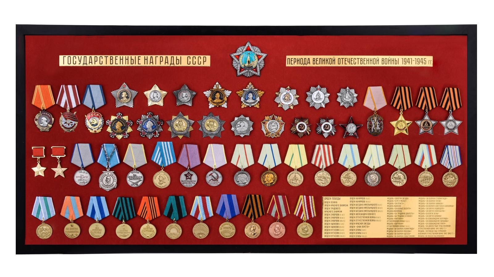 Планшет Награды СССР