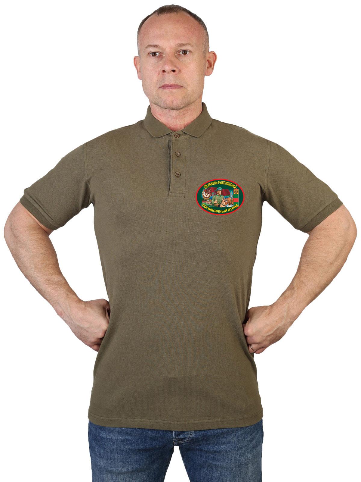 Оливковая футболка 69 Камень-рыболовский пограничный отряд
