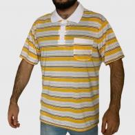 Мужская полосатая футболка поло Fiend