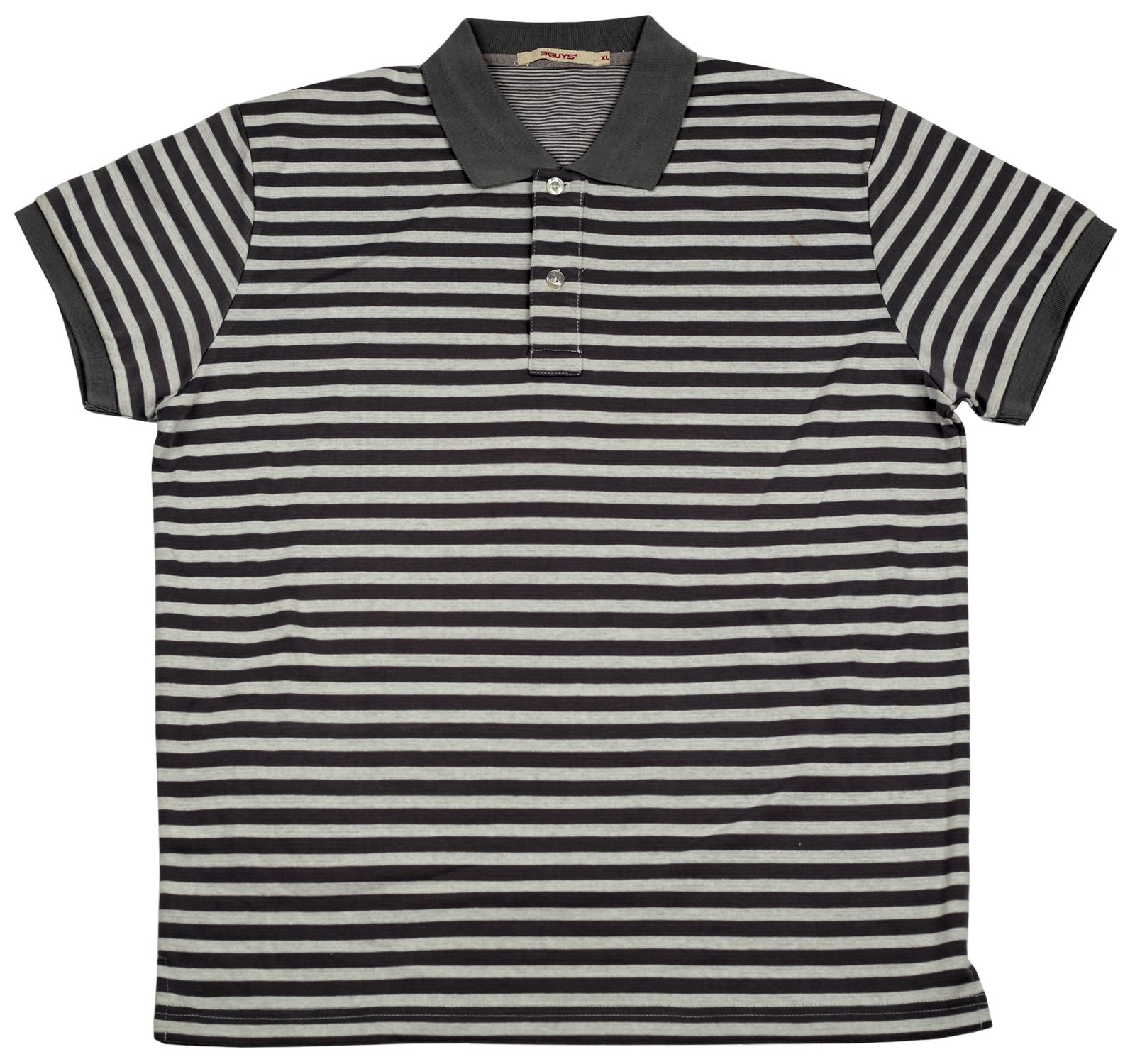 Полосатая футболка-поло от Guys. Стильная повседневная модель