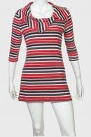 Полосатое яркое платье-туника от Rantq Rave