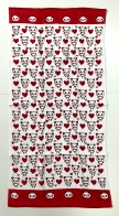 Полотенце большое с пандами и сердечками