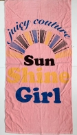 Полотенце большое с солнечным принтом