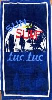 Полотенце большое Sun and Surf синее