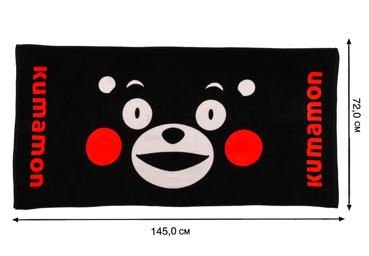 Полотенце черное Kumamon