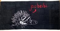 Полотенце черное с ежиком