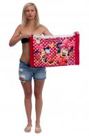 Детское полотенце для девочки с крошкой Минни Маус.
