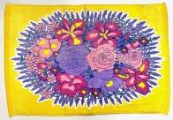 Полотенце для ног Букет цветов