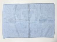 Полотенце для ног светло-голубое