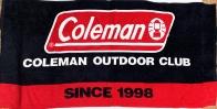 Полотенце махровое Coleman черно-красное
