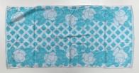 Полотенце махровое с голубым принтом