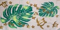 Полотенце махровое с растительным принтом
