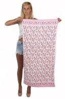 Кавайное розовое полотенце для пляжа из серии «ПАНДЫ АТАКУЮТ»