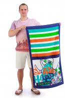 Полотенце пляжное цветное