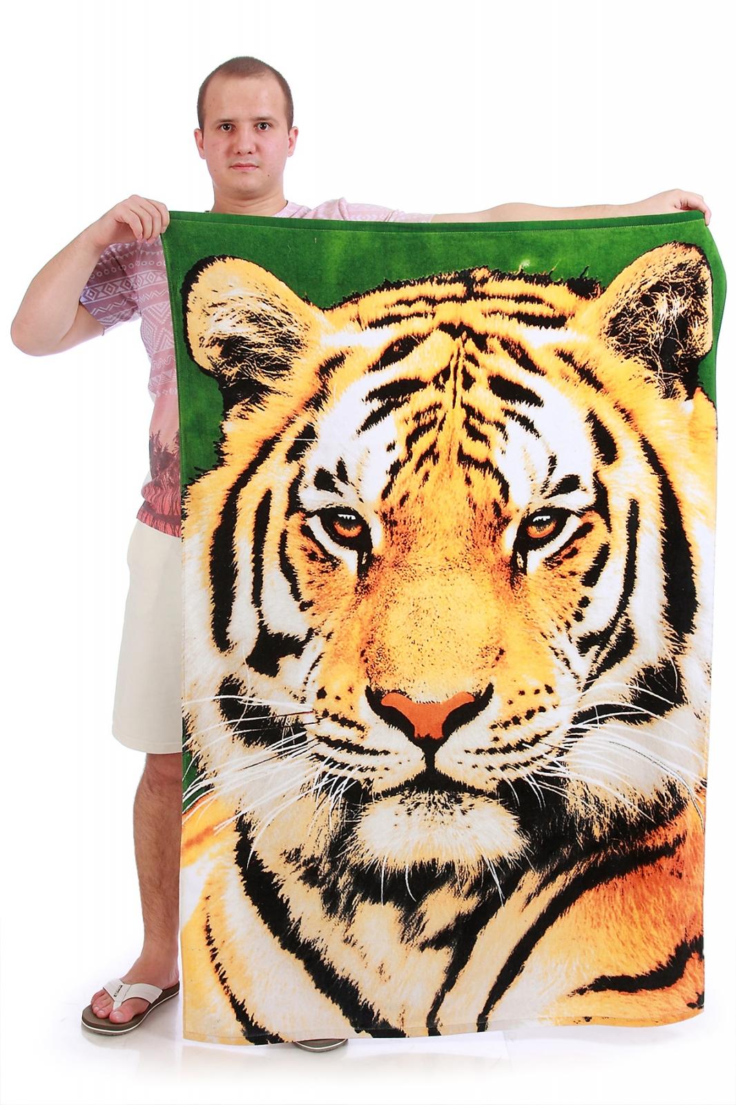 Полотенце с тигром - купить онлайн в интернет-магазине