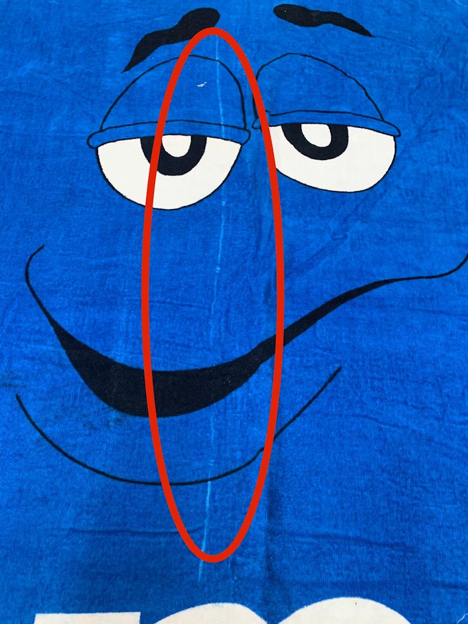 Полотенце синее махровое M&M's