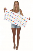 Классное махровое полотенце в звёздном дизайне