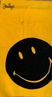 Полотенце желтое махровое со смайлом