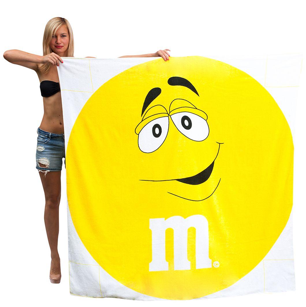 "Простыня банная ""Желтый M&M"