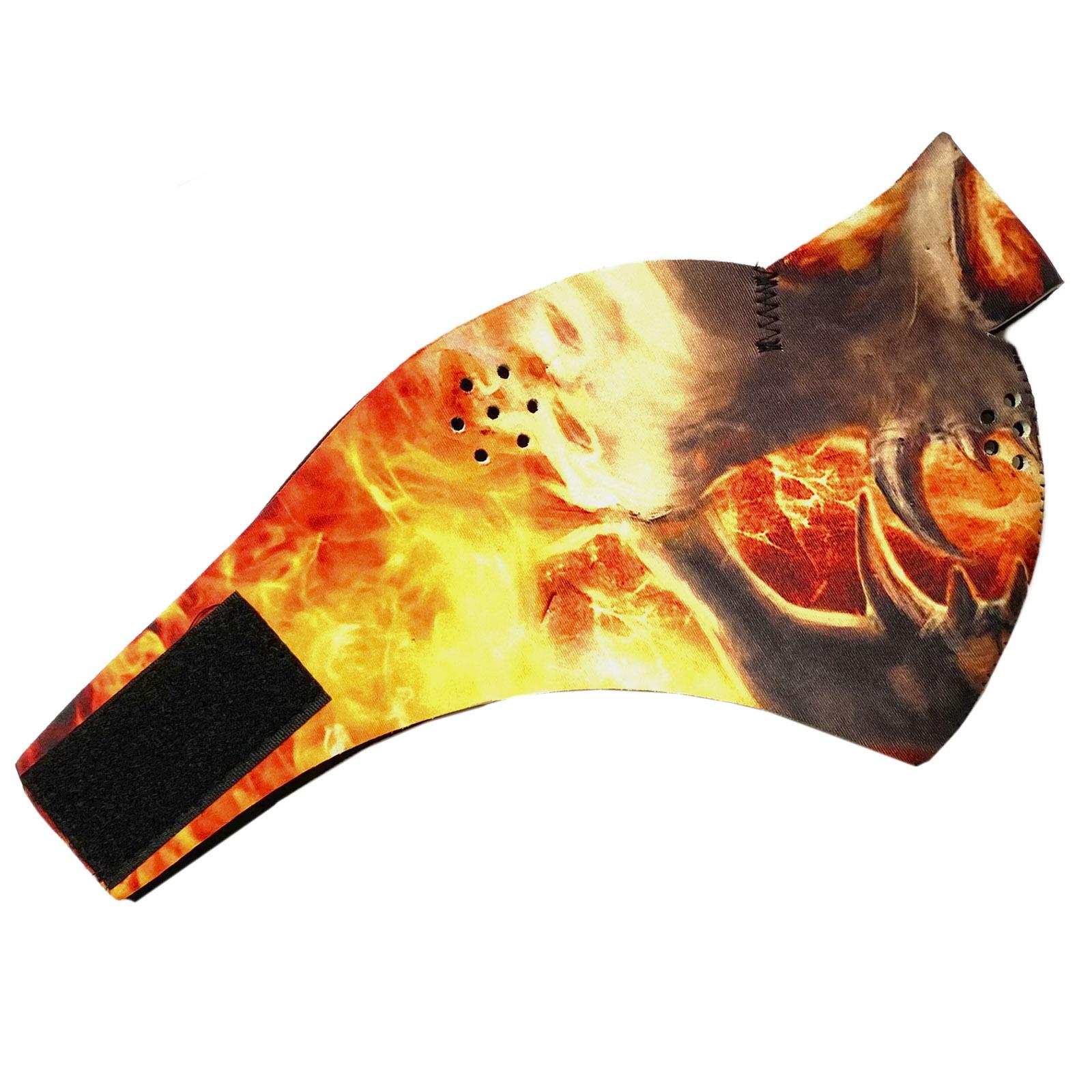 Полулицевая медицинская маска с крутым принтом Wild Wear Infernal Spirit