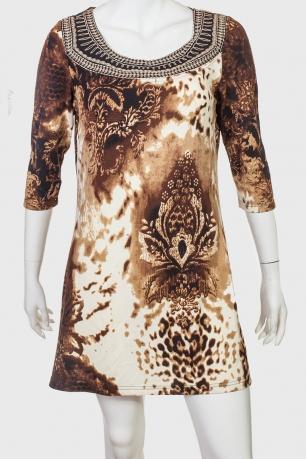 НАСТОЯЩИЙ ЭКСКЛЮЗИВ! Полуприлегающее трикотажное платье Papillon.