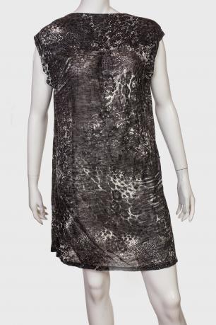 Полупрозрачное прямое платье-туника
