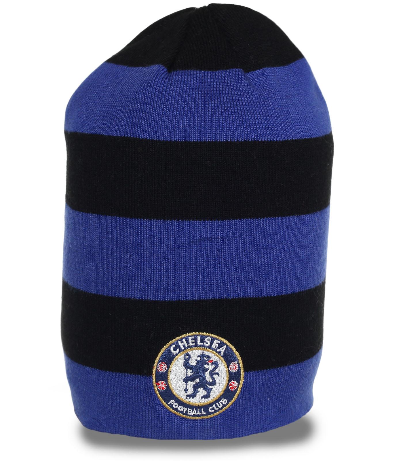 Популярная шапка Chelsea. Современная модель для парней, ценящих активных образ жизни