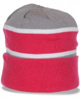 Популярная женская шапка с отворотом утепленная флисом зимняя спортивная модель