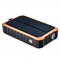Портативное зарядное устройство на солнечной батарее с динамо-машиной